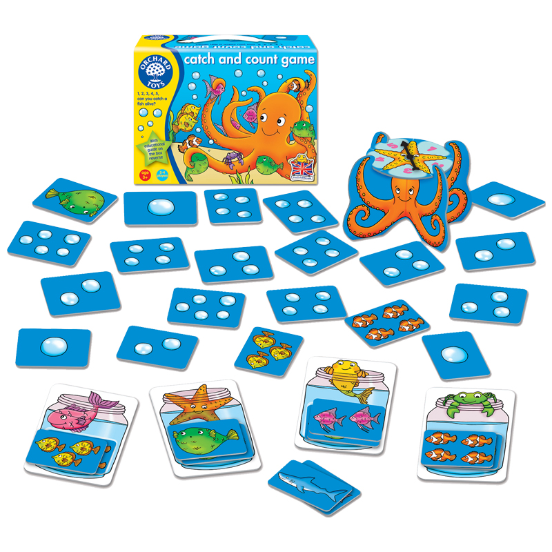 Catch and count game tumble tots for Catch and count fishing game