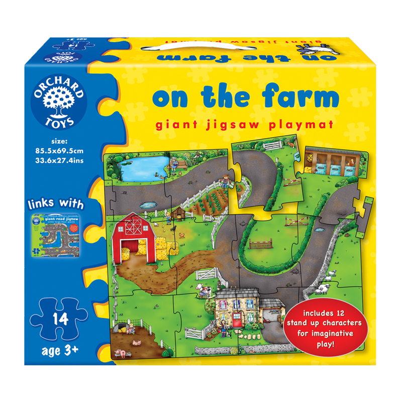 On the Farm Giant Jigsaw Playmat