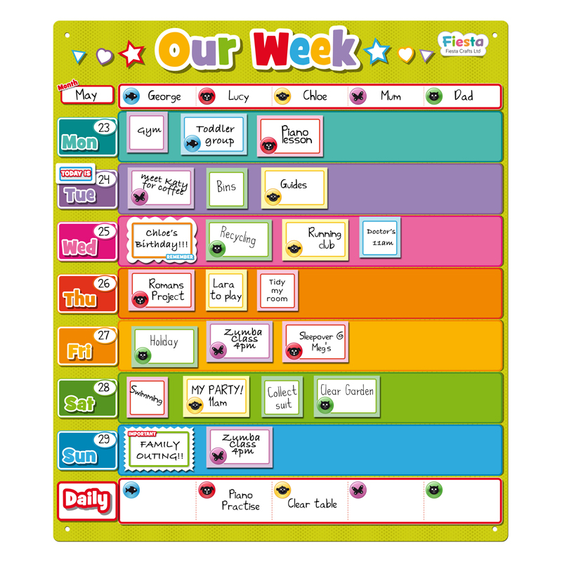 Our Week Magnetic Planner