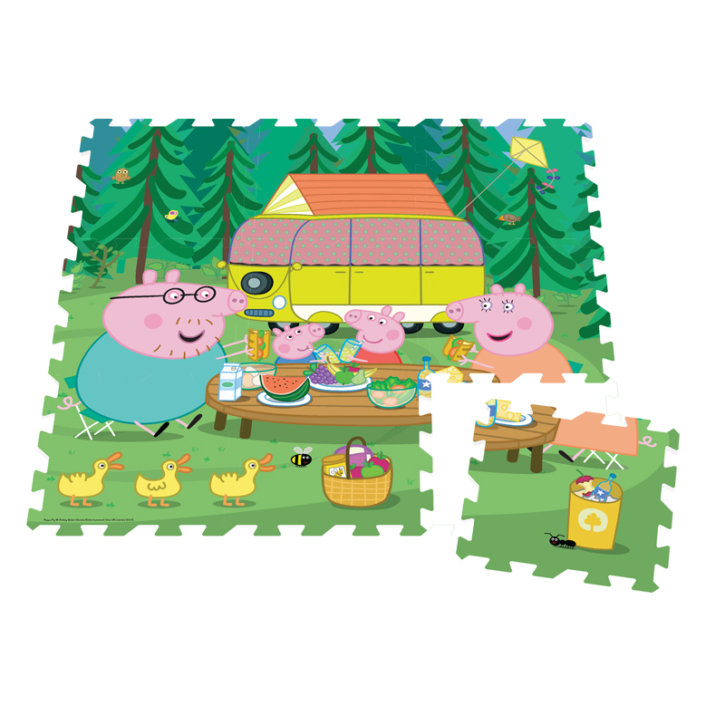 Peppa Pig 9pc Giant Foam Floor Puzzle