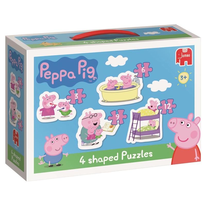 Peppa Pig 4 Shaped Puzzles