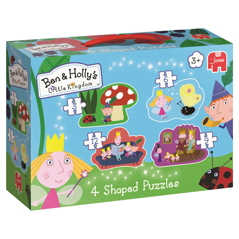 Ben Hollys Little Kingdom 4 Shaped Puzzles