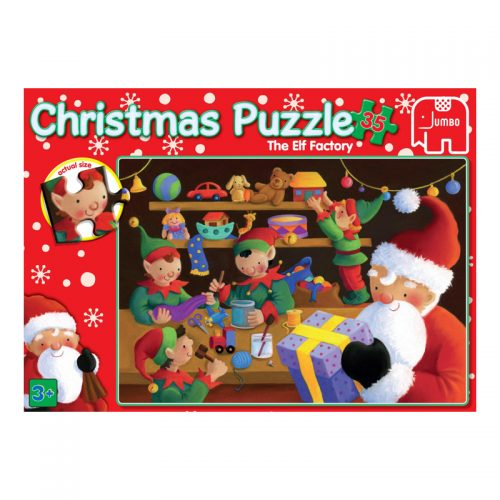 Christmas 35 Piece Puzzle - Santa and the Elves