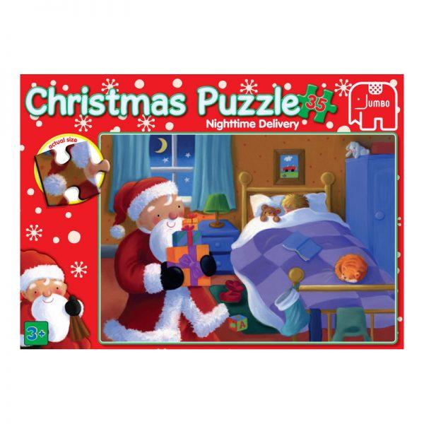 Christmas 35 Piece Puzzle - Santa in Bedroom