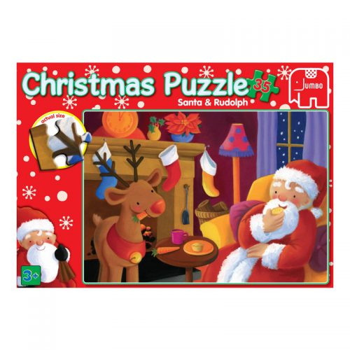 Christmas 35 Piece Puzzle - Santa and Rudolph