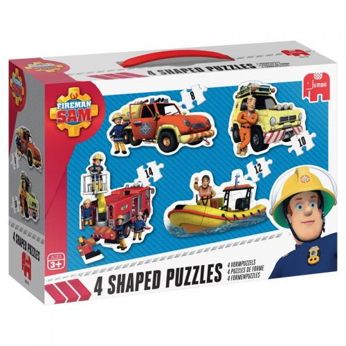 Fireman Sam 4 Shaped Puzzles