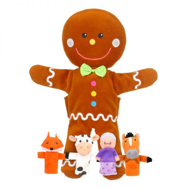Gingerbread Man Hand & Finger Puppet Set