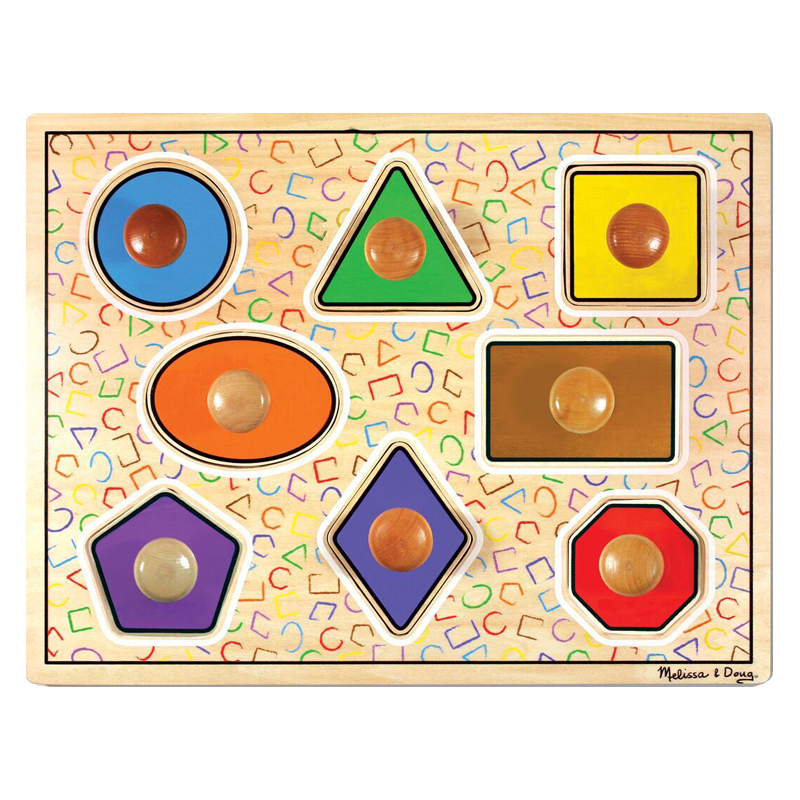Geometric Shapes Peg Puzzle