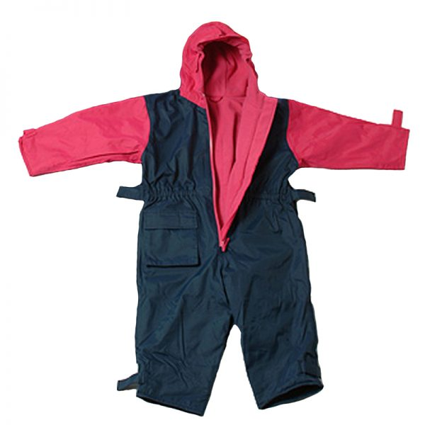Togz Fleece Lined All In One - Raspberry/Navy