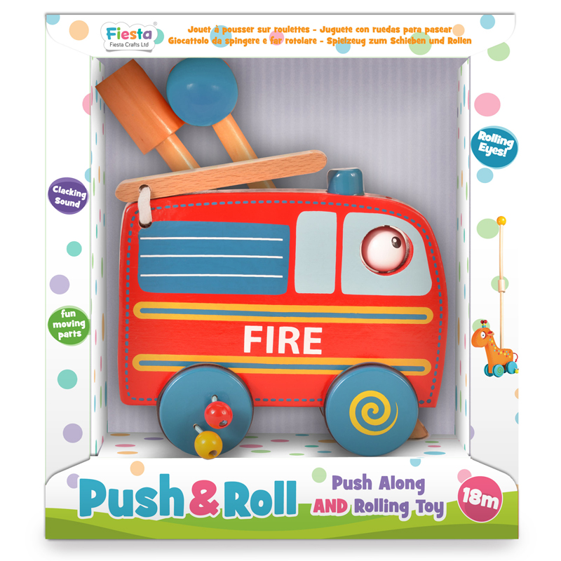 Tumble Tots Push & Roll Fire Engine