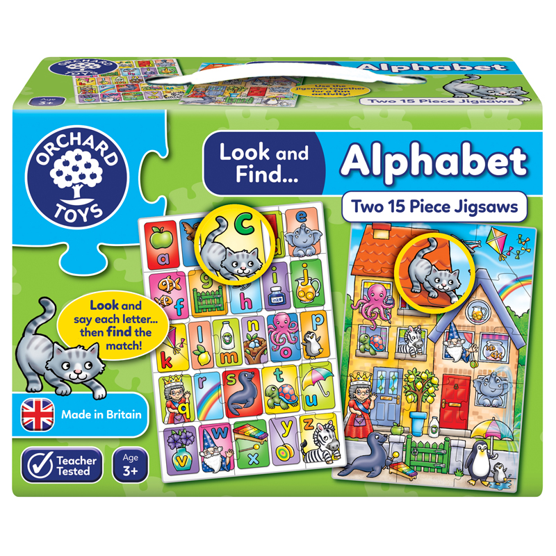 Toys & Games|Educational Toys|Puzzles Look and Find - Alphabet