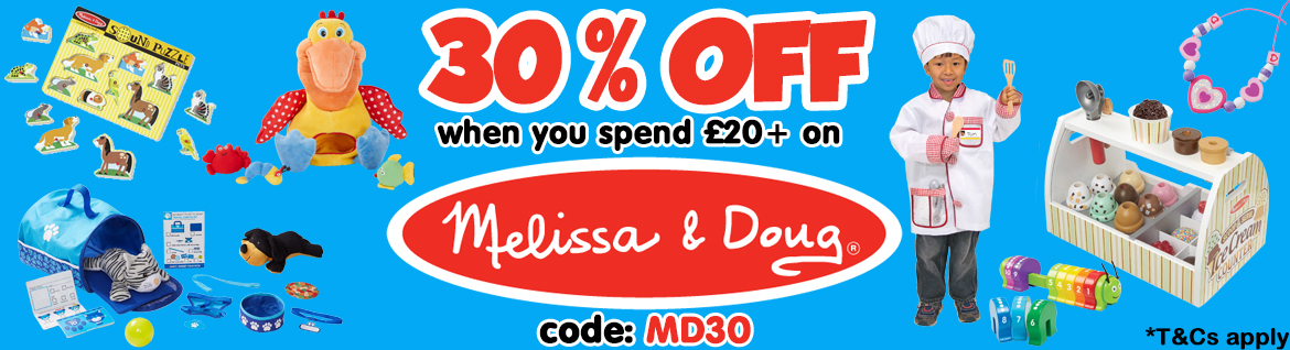 30% OFF Melissa and Doug Toys